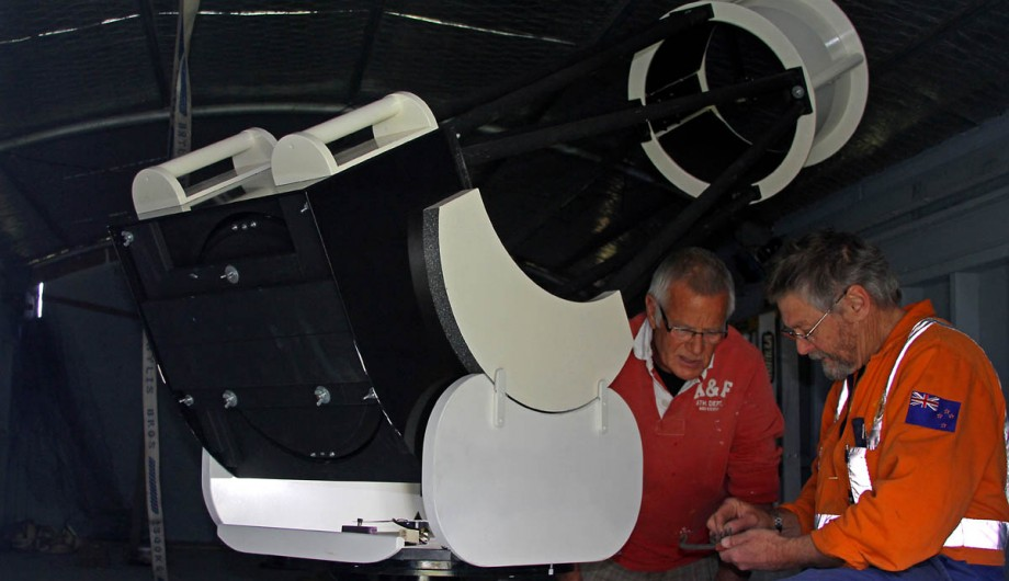 the first telescope is installed at the observatory